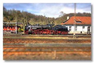 Bochum - Eisenbahnmuseum Dahlhausen Preußische P 8 38 2267 Baujahr 1918 - TiltShift