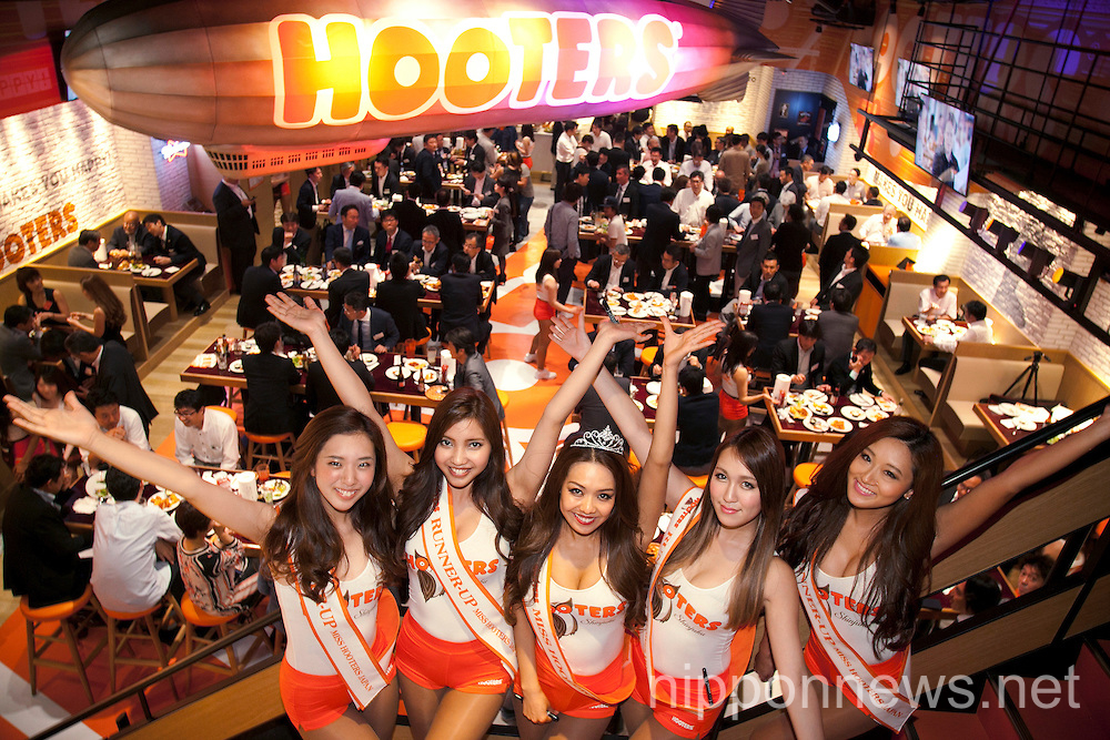 Hooters opens a new restaurant in Tokyo