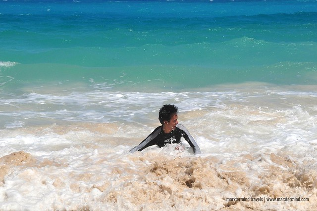 Playing with the Waves at Dahican Beach Mati