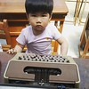 Without any screen attached to it, Joon doesn't know what to do with a typewriter :smile: