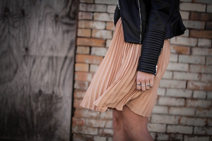 a viza style. andrea viza. fashion blogger. dc blogger. pleated jcrew skirt. faux leather jacket. rebecca minkoff heels. casual style. dc style. 9
