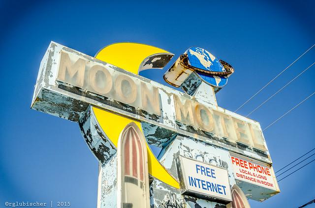 Abandoned Moon Motel - Vintage Neon Sign - XVI