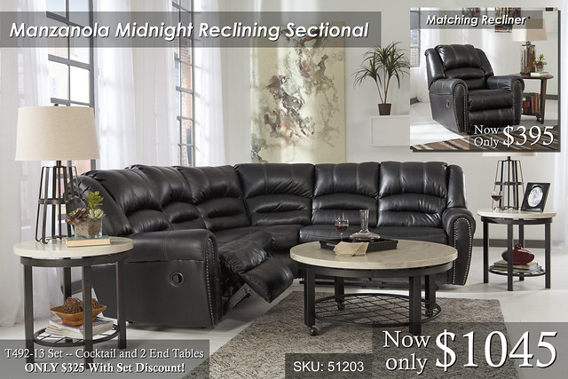 Manzanola Midnight Sectional