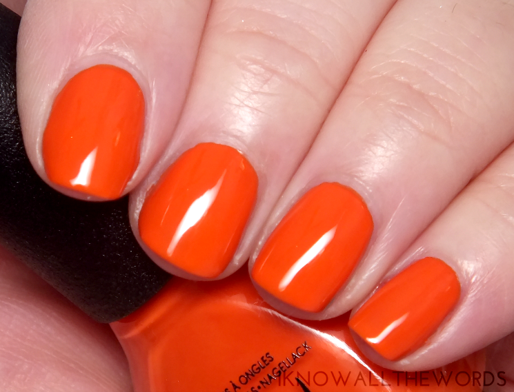 nicole by opi cocoa cola collection the look is orange