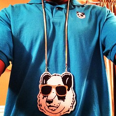 Just got the Psycho Panda chain in the mail from Clay Junkiez!! Visit @clayjunkiez to order something custom and fresh! This necklace is HUGE! Lol. #ppstwr #swag #illest #SaveThePandas #lovewhatyoudo #streetwear #fashion #official #clayjunkiez #classic #g
