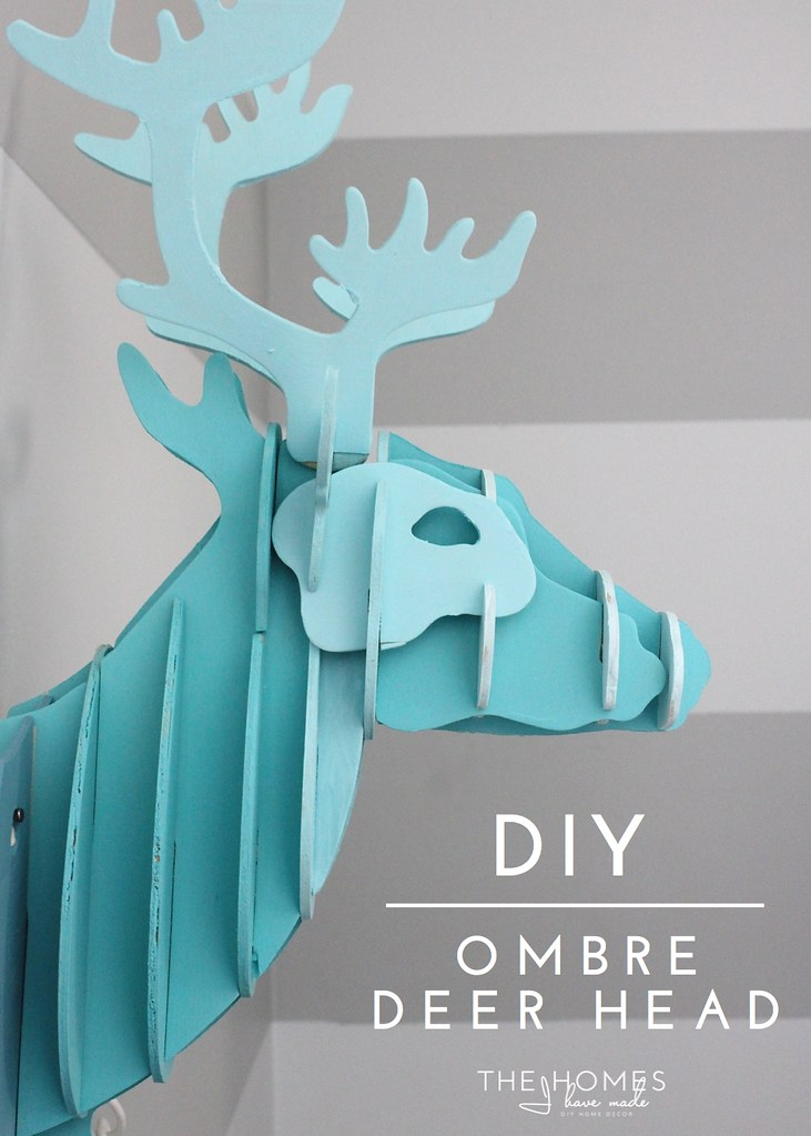 Ombre Deer Head-002