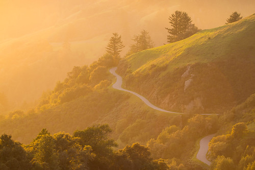 california road old sunset skyline honda la country hill windy