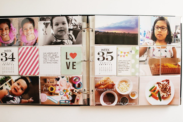 august layouts (pocket memory keeping / project life)