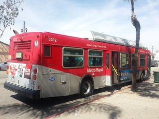 LACMTA Metro Rapid New Flyer C40LF #5312