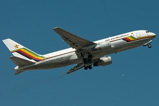 Z-WPE Air Zimbabwe Boeing 767-200ER Gatwick