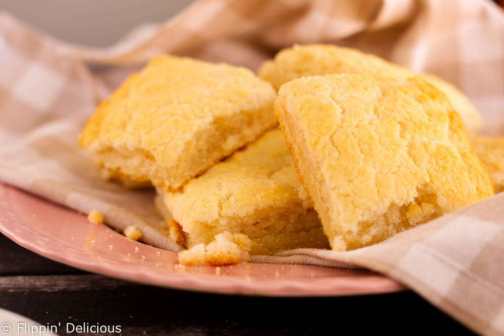 Buttery, flaky, fluffy, silky, gluten-free biscuits with crispy golden edges. These gluten-free biscuits have only 5 ingredients. They are so easy, and so good, they will change your life!