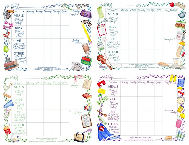 Surprised by Motherhood Mom's Printable Weekly Calendar
