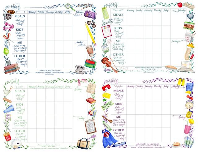 Surprised by Motherhood Mom's Printable Weekly Calendar
