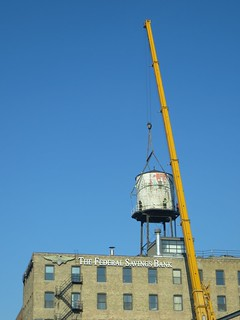 Removing old water tower