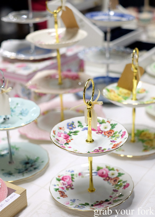Tiered cake stands at Wellington Underground Market, Wellington