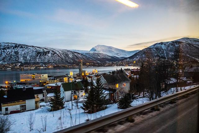 Tromsø desde el autobús