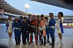 MotoGPマシンがJ1のハーフタイムに競技場を疾走!