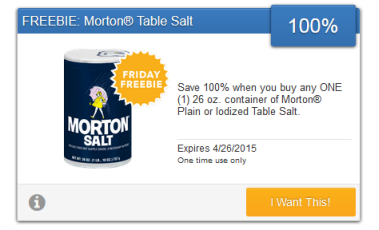 Morton - SavingStar Freebie