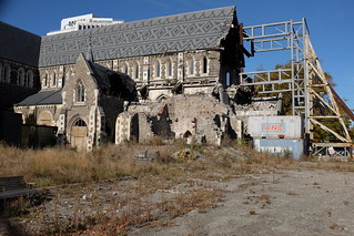 Cathedral devastated by the quake