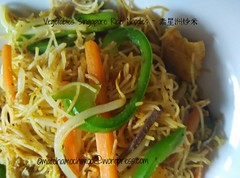 Vegetarian Singapore Rice Noodles ~ 素星洲炒米