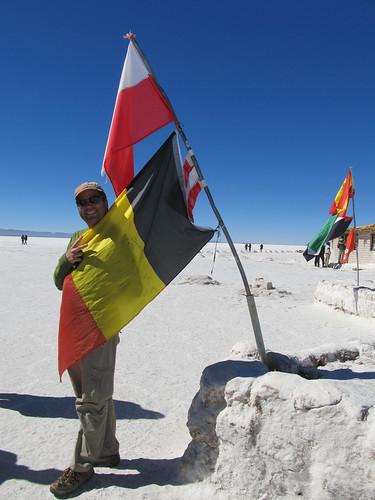 Le Salar d'Uyuni: Mister J aime tellement la Belgique ;)
