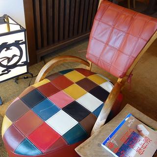 ロビーのかわいい椅子