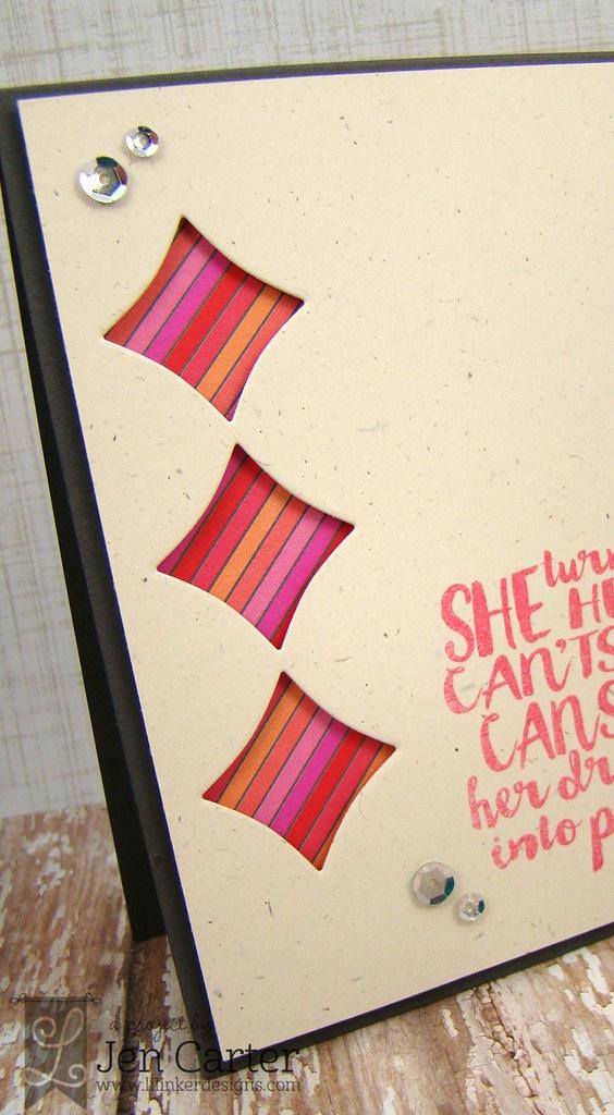 Jen Carter Lil' Inker Wonky Paint Canvas Closeup