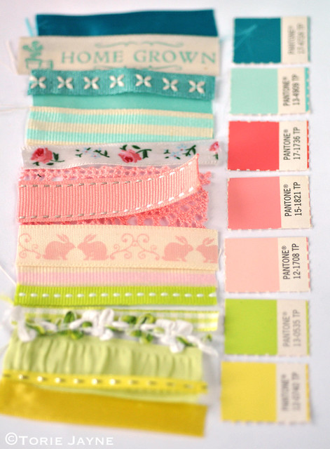 Ribbons to match my Easter colour palette