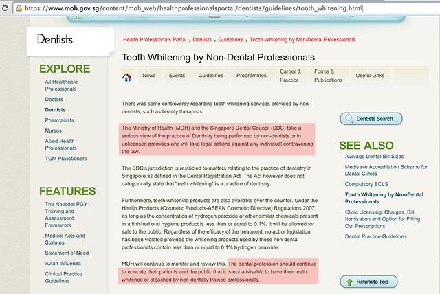 MOH Dental Guidelines