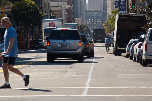 22514 Southbound Polk St. bike lane preview from California to Pine