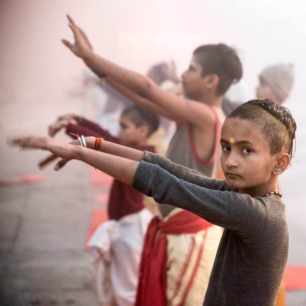 Morning Prayer-DSC_1315 | Pupils of an Hindu School in Varan