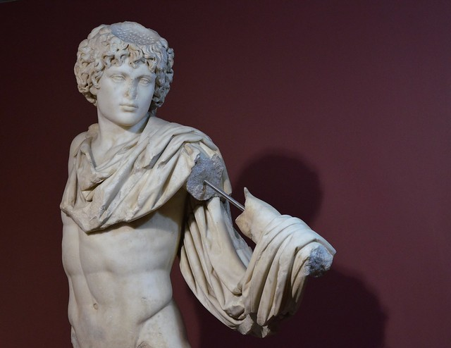 Antinous portrayed as Androclus, the legendary founder of Ephesus and son of king Codrus of Athens, ca. 150 AD, from the Vedius Baths and Gymnasium complex at Ephesus, Izmir Archaeological Museum, Turkey