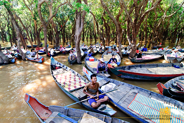 Boat Rentals at the Flooded Forest of Kompong Phluk in Siem Reap