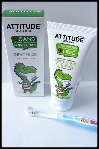 ATTITUDE tout-petits dentifrice sans fluore