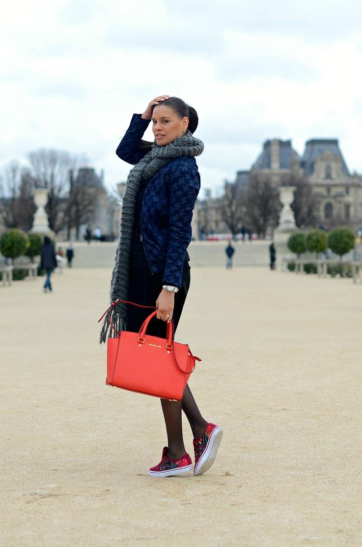 DSC_2285 Tamara Chloe, Michael Kors Selma bag, Adidas, Rita Ora, G Star Raw jacket, Paris2