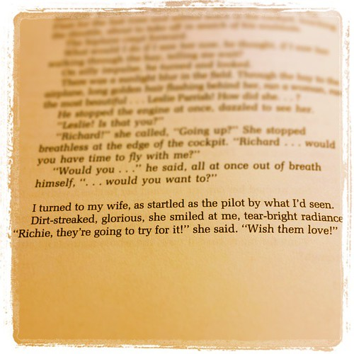 Day 9: Magical book quote. From THE BRIDGE ACROSS FOREVER by Richard Bach. #magicalmarchbookchallenge #RichardBach