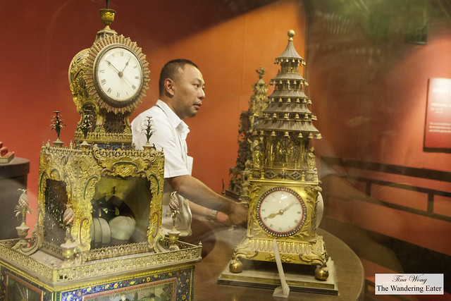 At The Hall of Clocks and Watches in Forbidden City, Beijing, China
