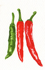 paprika(0.0), plant(0.0), pimiento(0.0), cayenne pepper(1.0), chili pepper(1.0), vegetable(1.0), serrano pepper(1.0), tabasco pepper(1.0), peppers(1.0), bell peppers and chili peppers(1.0), bird's eye chili(1.0), peperoncini(1.0), produce(1.0), food(1.0), malagueta pepper(1.0),