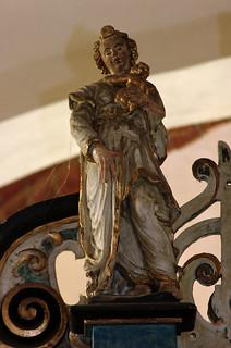 Daverden, Niedersachsen, St.-Sigismundkirche, altar, a virtue : charity