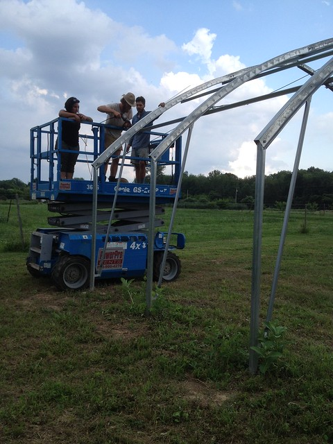 Utilizing the scissor lift