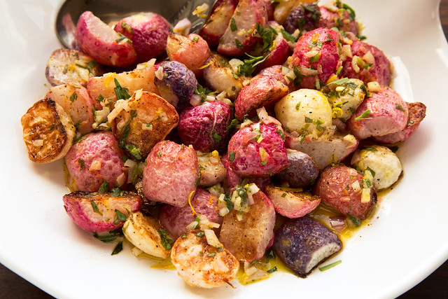 roasted radishes in bowl