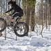 Makeshift Snow Ramp by bundokbiker