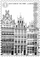 16 Markt Van Antwerpen timbre ze foto
