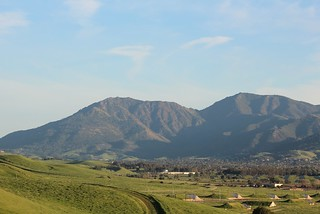 MAR 17-2015 Mount Diablo, looking south toward the city of Clayton from Willow Pass above the former Concord Naval Weapons Depot lands in Concord, CA, USA. 168