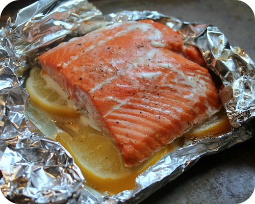 Slow Baked Lemon Salmon