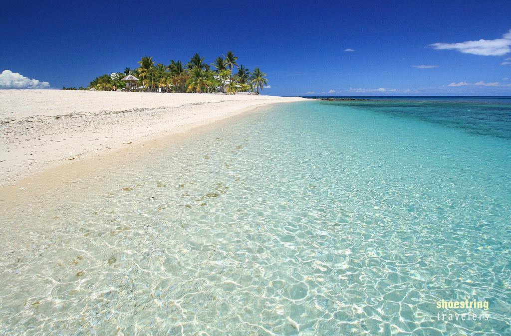 crystal-clear waters at Kalanggaman Island's sandbar