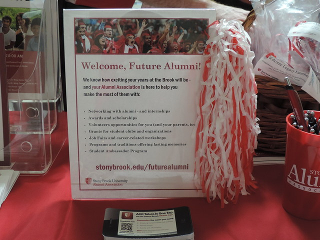 Sign with information for new students
