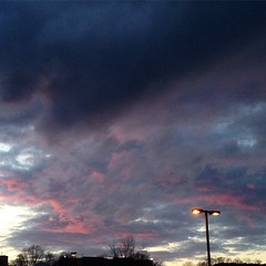 #sky was pretty as we left #McDonald's #playplace tonight.  #pink #clouds #sunset