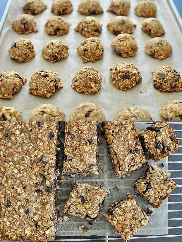 Banana Oat Snack Cookies & Bars