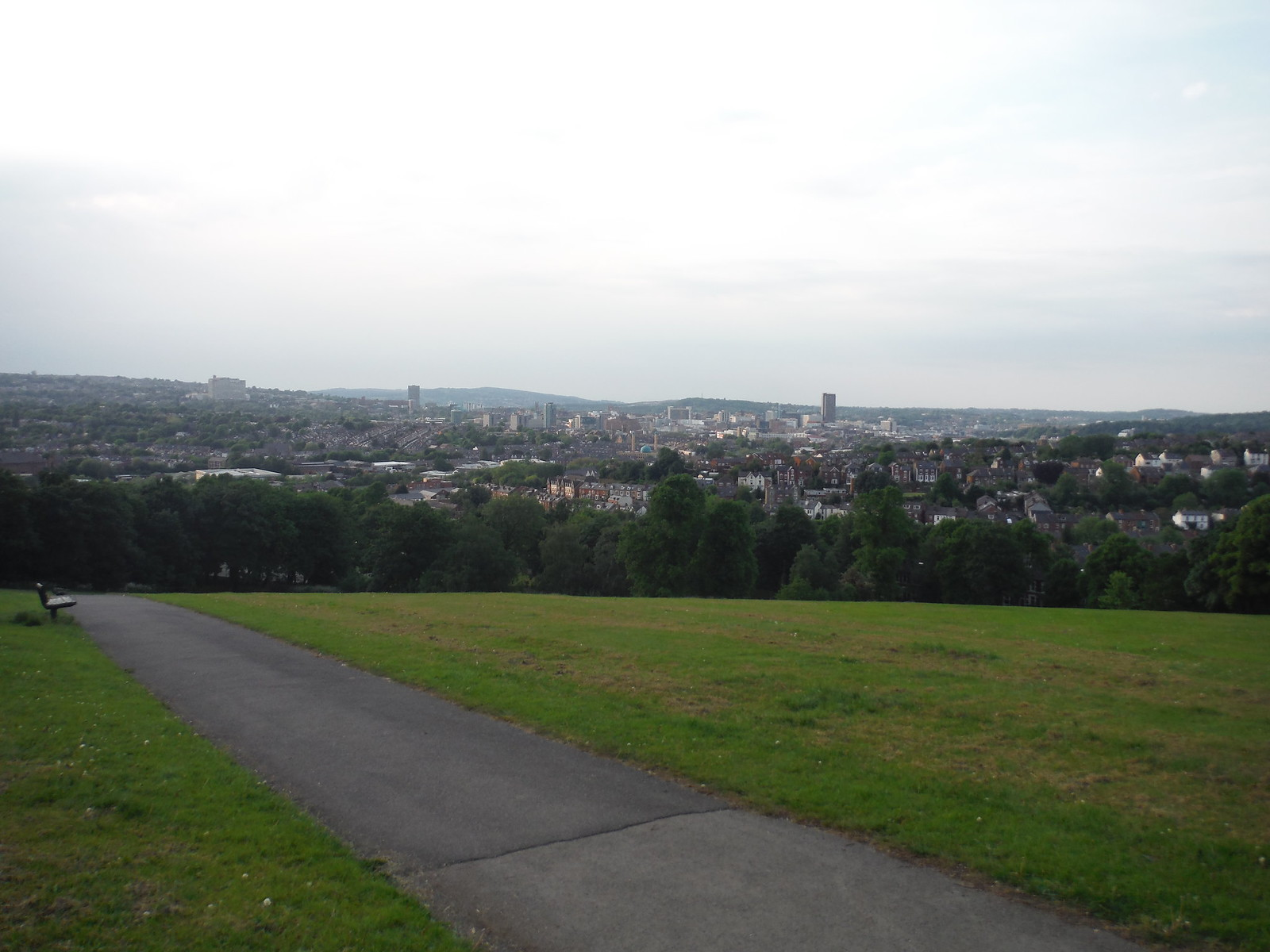 View from JMW Turner's Viewpoint, Meersbrook Park SWC Walk 267 - Sheffield Circular (via Porter, Limb, Sheaf and Gleadless Valleys)
